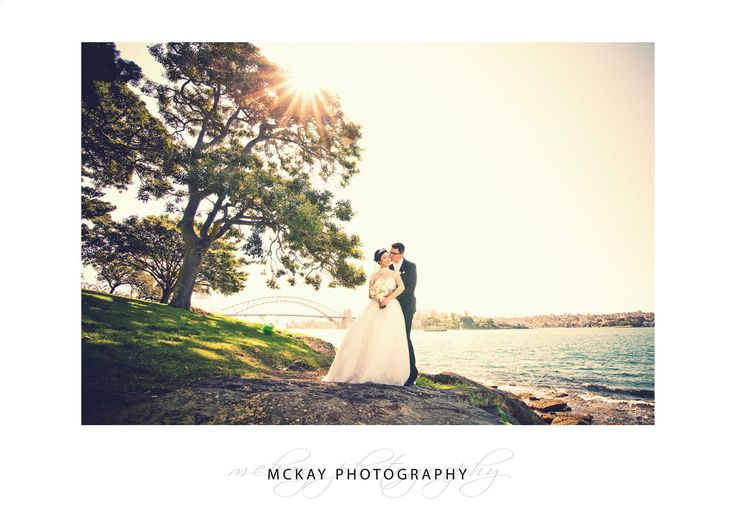Wedding photo at Mrs Macquaries Chair in Sydney