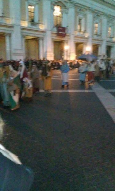 Presepe vivente in Piazza del Campidoglio.