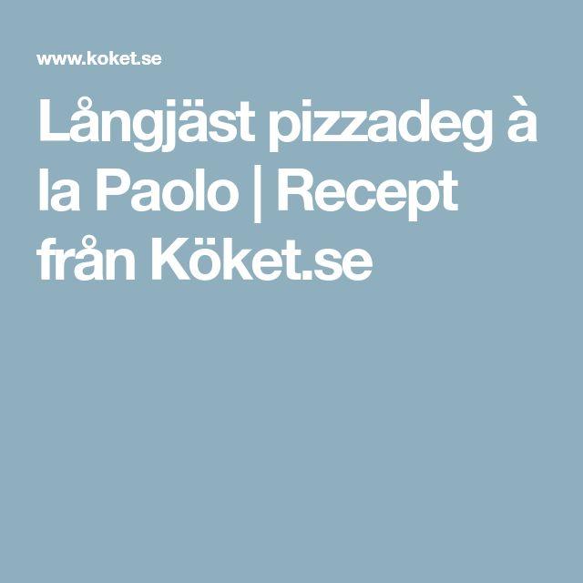 Långjäst pizzadeg à la Paolo | Recept från Köket.se