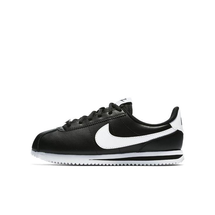 Nike Cortez Basic SL Big Kids' Shoe Size 4.5Y (Black)
