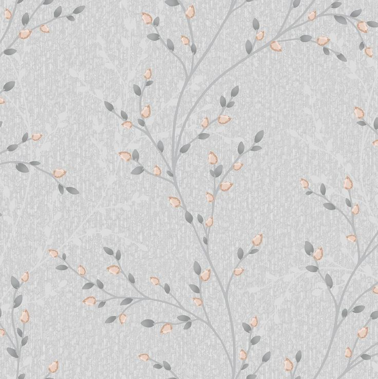 Opus Wallpaper / Amelio Silver Grey / Rose Gold / 35705 – WonderWall by Nobletts