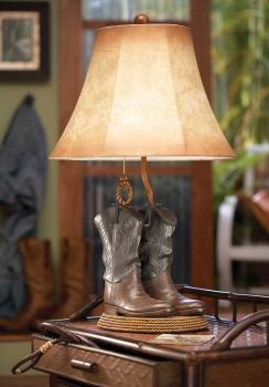 A cowboy boot lamp is perfect for a kid's bedroom or anyone with an interest in horses or rodeo. This cute table lamp is from Midwest CBK Home.
