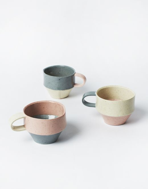 Beautiful light coloured cups