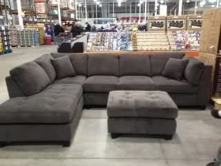 Totally just found our new couch on Pintrest and couldn't help but pin it :) Costco grey sectional