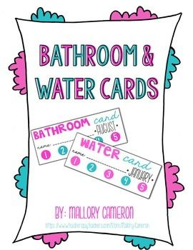 FREE Bathroom and Water Punch Cards! This system worked wonders in my classroom.