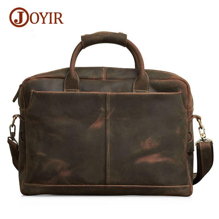 Joyir brand mens office bags for men genuine leather briefcase handbags shoulder laptop bags business man briefcase 6306