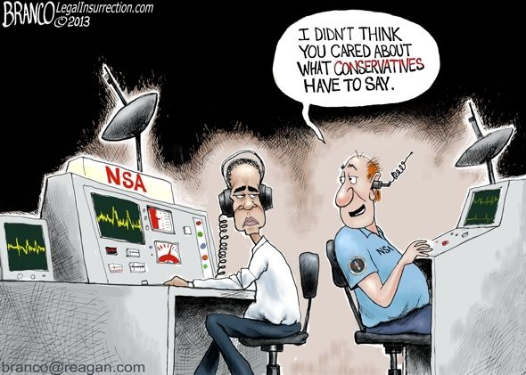 Did Obama wiretap Trump during election? Cartoon from 2013 may shed some light. Political cartoon by A.F. Branco ©2013.