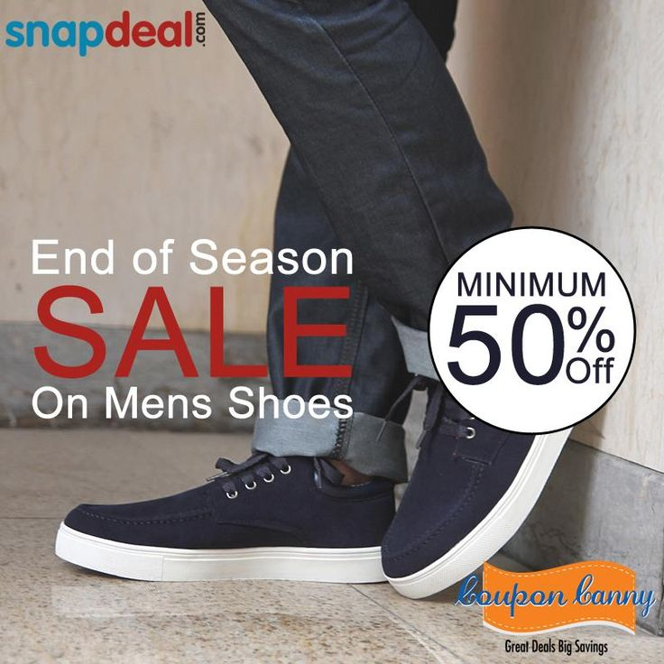 End of Season Sale : Minimum 50% Off On #Mens #Shoes at #Snapdeal! Claim Now : http://www.couponcanny.in/snapdeal-coupons/