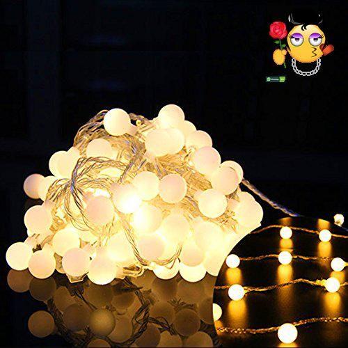 #bigsavings  #Sokos 16ft/5m 50 LED Long Globe String Light, LED Ball Fairy String Lights Starry Light for Gardens, Home, Wedding, Christmas Party, Battery-powere...
