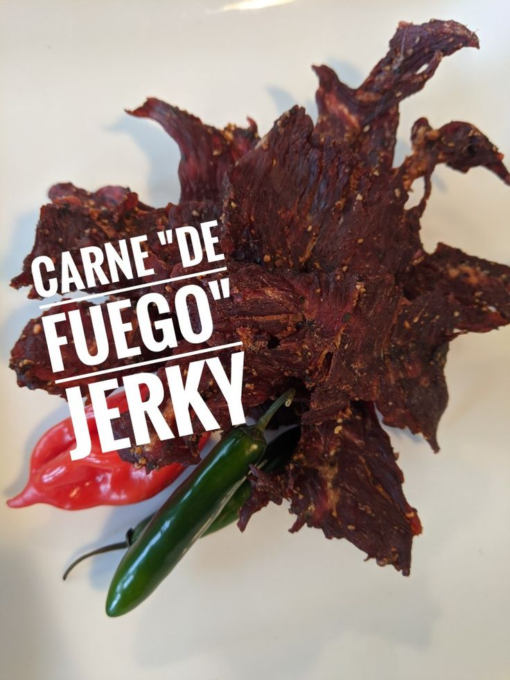 Homemade beef jerkyghost pepperreaperhabanerofuego