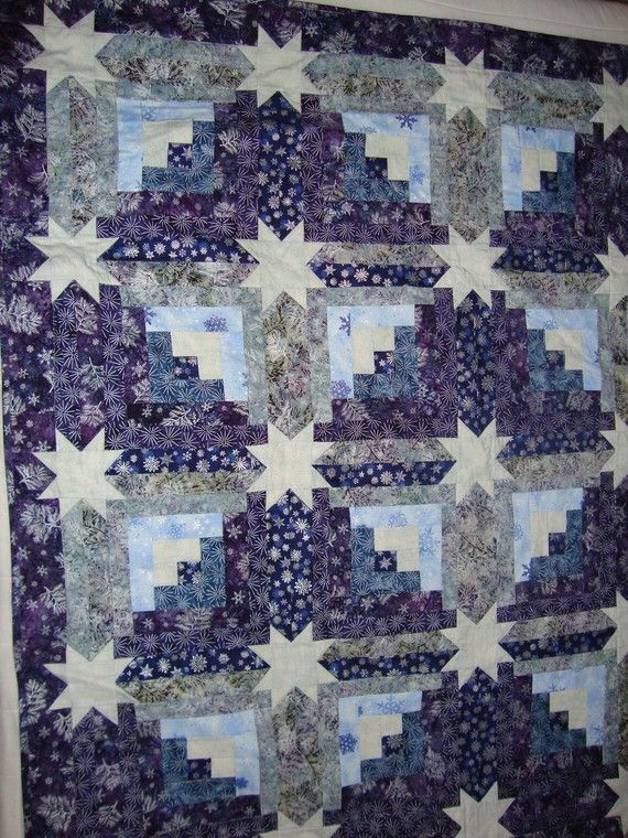 Star Log Cabin quilt  reduced by carmenjass on Etsy, $149.00
