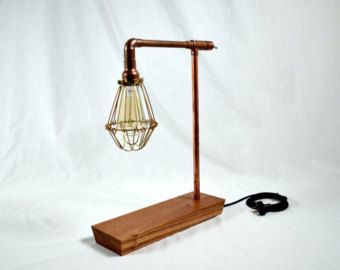 Swirl Copper Pipe Lamp by CopperLightingCo on Etsy
