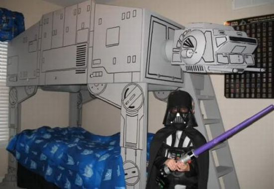 Star Wars bedStars Wars Bedrooms, Bunk Beds, Sons, Kids Room, Loft, Star Wars, Bedrooms Decor, Bunkbeds, Starwars