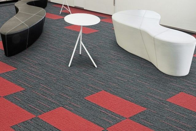 Fusion from the Zipline carpet tile range from Carpets Inter. Available in Australia from Above Left.