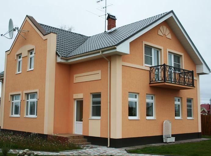 фасадная штукатурка фото Фасады домов фото Дизайн и декор Дом АССбуд -...