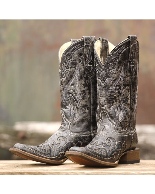 Corral Women's Vintage Black Python Inlay Cowgirl Boot - A2402  http://www.countryoutfitter.com/products/27485-womens-vintage-black-python-inlay-boot-a2402?lhs=u_p_p_n_a&lhb=CO&lhc=womens_boots&lhg=corral_a2402&utm_source=pinterest&utm_medium=social