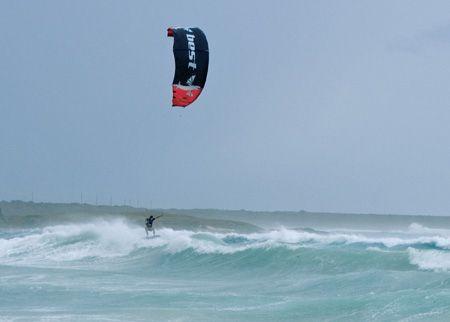 Kitesurfing Hurricane Dean