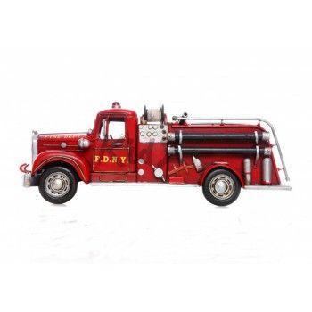 Ouderwetse Brandweerwagen muursticker