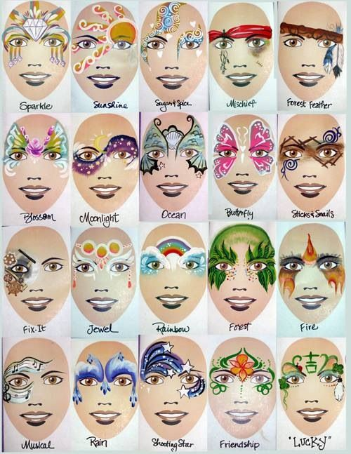 Girl Face Painting Example Board Board