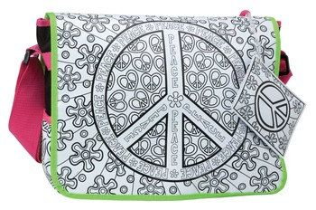 Color a Peace Bag Back to School Messenger Bag by TazzyJazzyKnits, $30.00