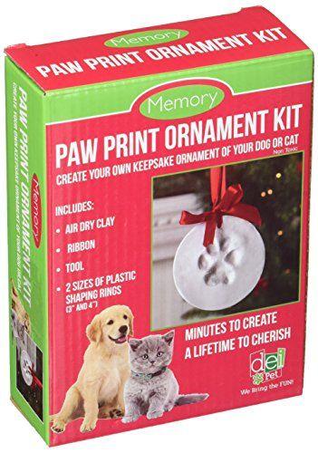 Santa's Lucky Dog Memory Paw Print Ornament Kit DEI