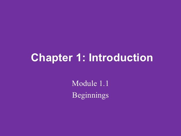 Lifespan Psychology   Power Point Lecture, Chapter 1, Module 1.1