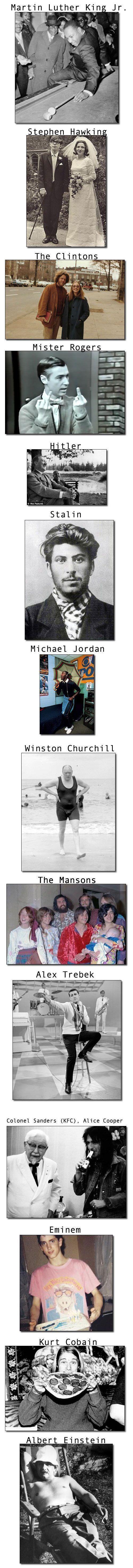 Rare Photos Of Legendary People.