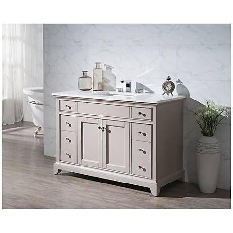 "Arianny 49"" Taupe Single Sink Bathroom Vanity - #10H54 | Lamps Plus"