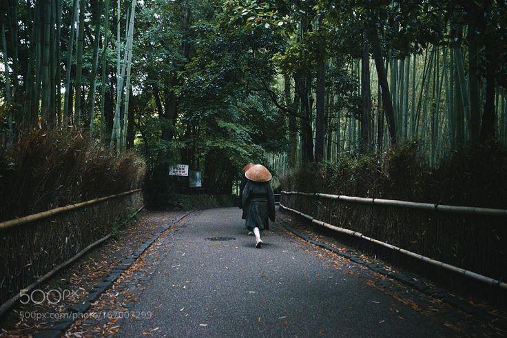 Monk in Arashiyama by mitsuru_wakabayashi