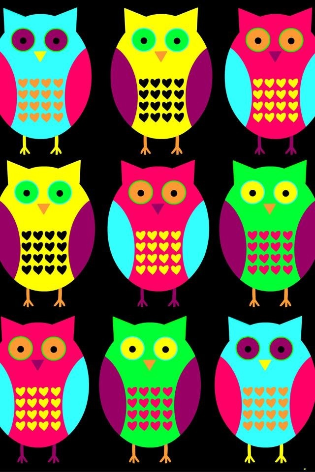 17 best images about cute wallpapers on pinterest neon - Cartoon owl iphone wallpaper ...