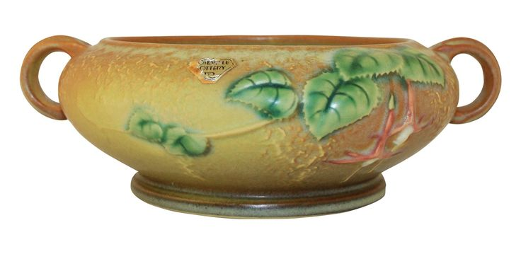 Roseville Pottery Fuchsia Brown Bowl 348-5