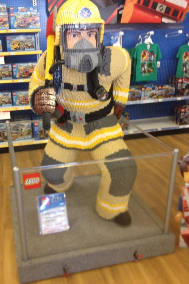 Lego Fireman Displayed At Toys R Us In Philadelphia Pa Baltimore