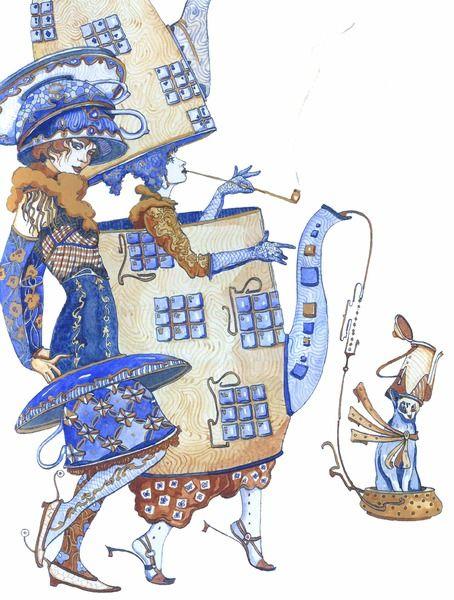 Петр Фролов -художник из С.- Петербурга - Кофейник - Piotr Frolov - S.-Petersberg` painter - Coffee-pot