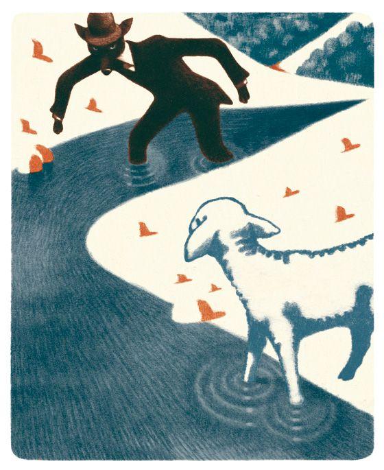 illustration Jean François Martin pour les Fables d'Esope