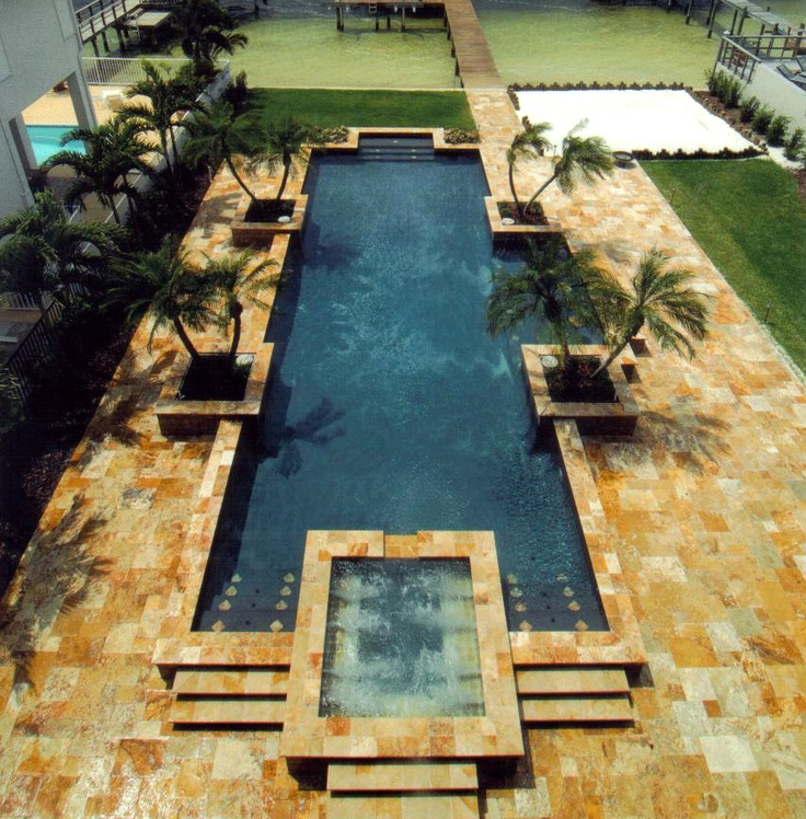 Marble Pool Decks Gorgeous Tumbled Marble Pool Deck  Hardscape Improvements  Pinterest