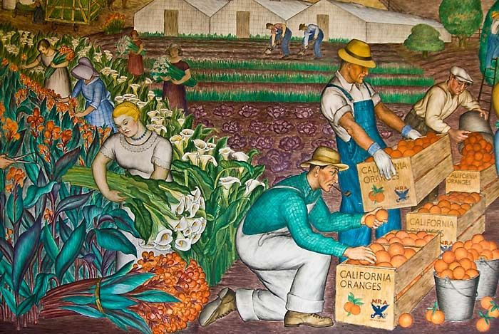 Diego rivera mural coit tower google search art for Diego rivera mural in san francisco