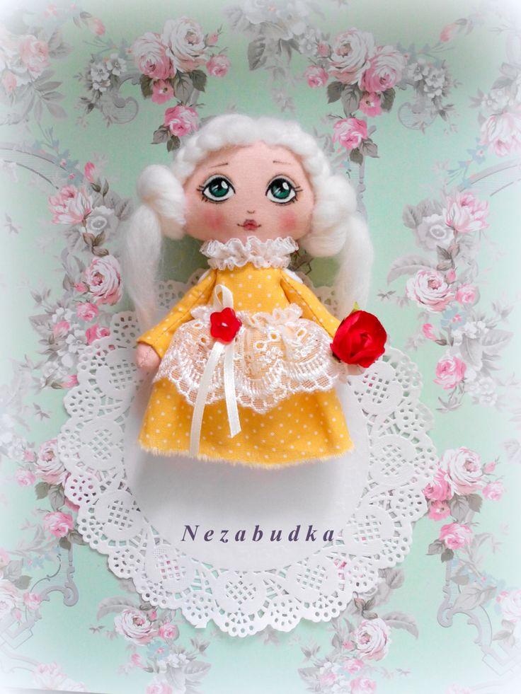 Кукла ручной работы. Гафт девушка. Интерьер Текстильное искусство NezabudkaDolls
