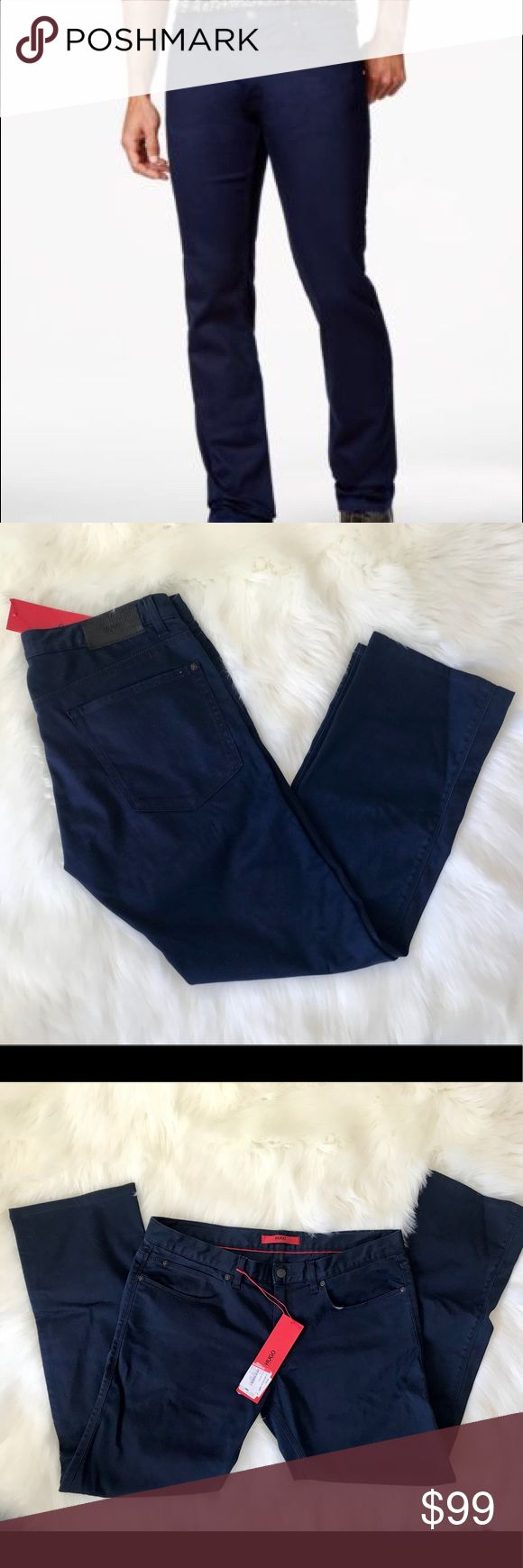 NWT HUGO BOSS 708 Slim Fit Jeans in Blue NWT HUGO (Red Label) by Hugo Boss 708 Slim Fit Jeans in Blue; Size 34X34; •Slim fit •Five-pocket styling •Zip fly •98% Cotton 2% Elastane Hugo Boss Jeans Slim Straight