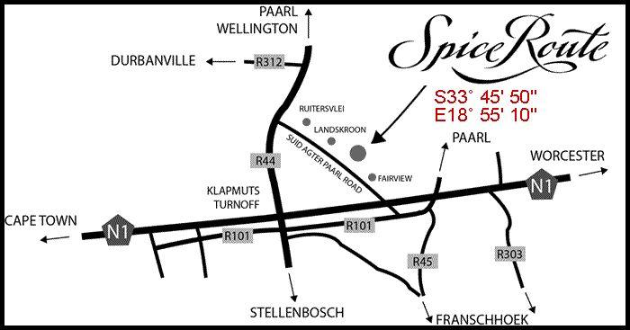 Wine Farm : Spice Route - Paarl  3 x retaurants Beer & wine tasting next door to Fairview