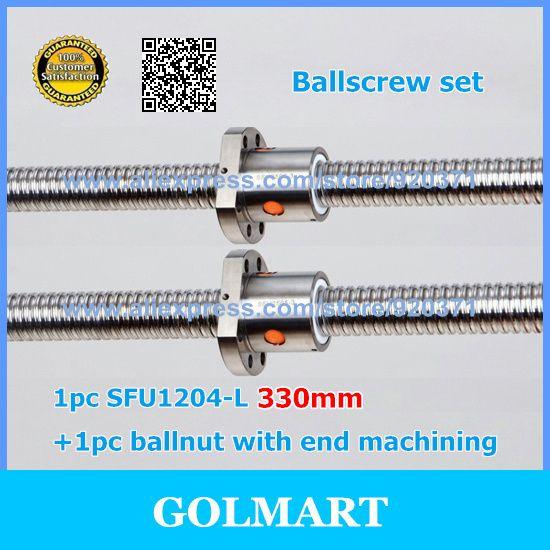 CNC Linear <b>SFU 1204</b> BallScrew <b>Set</b> guide 1pc RM1204 L-330mm ...