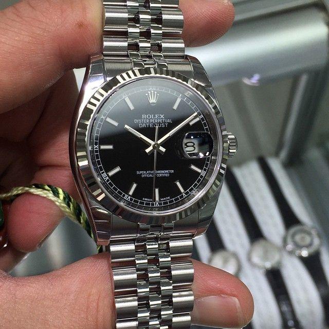 Rolex Datejust 36 Schwarz
