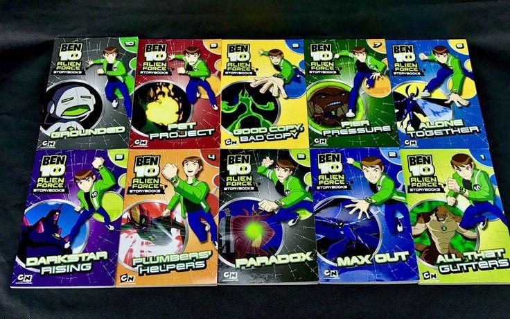 Ben 10 alien force story Books Set 1-10 collection cartoon network paperbacks