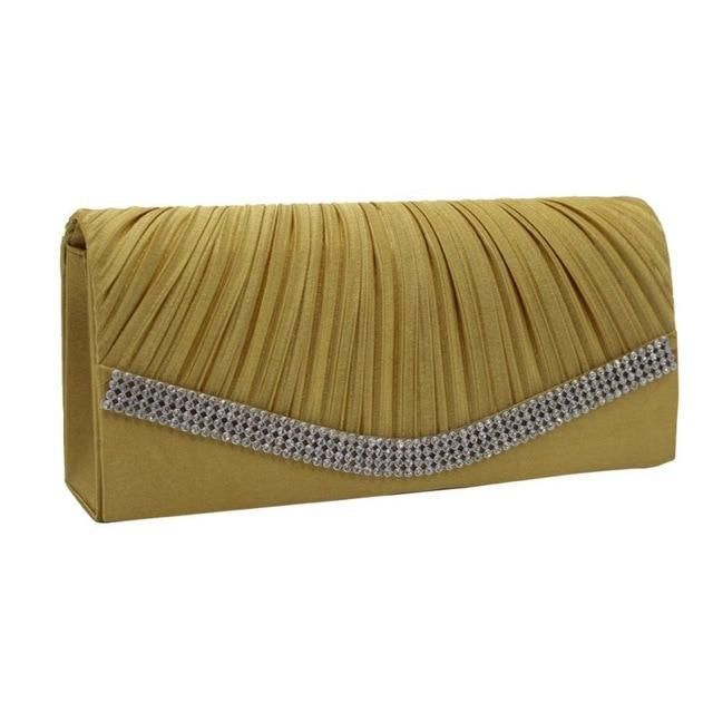 7c2305ea1bf9 bridal clutch purse cross body bags Pleated Satin Evening Clutch in ...