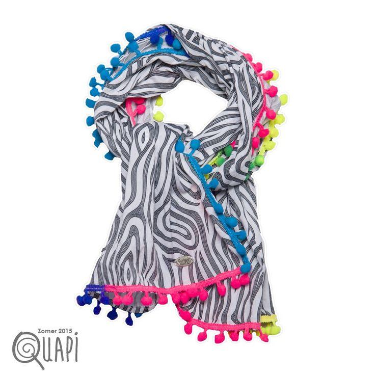 Quapi Sjaal Babbe Zebra Bleu Night bij Minimoda. #Meisjeskleding #Accessoires #Meisjes #Shawl #Kinderkleding #Minimoda