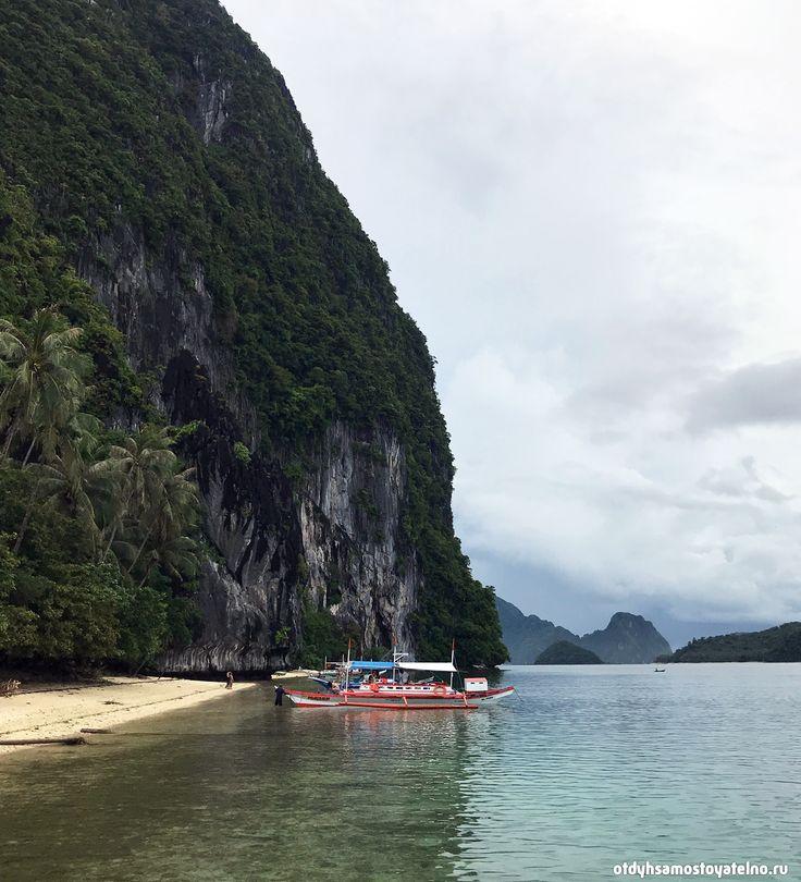 Лодка с туристами, Эль Нидо, Палаван