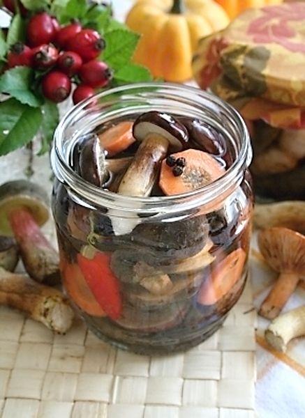 Zavařování hub 1000 ghub 70 gcukru 25 gsoli 850 mlvody 300 ml3 % octa bobkové listy hořčičné semeno kuličky pepře kuličky nového koření sůl Houby očistíme, předvaříme 5 minut v osolené vodě Do připravených půllitrových sklenic dáme na dno po jednom bobkovém listu, několik kuliček pepře a nového koření a 1/2 lžičky hořčičného semene Připravíme si sladkokyselý nálev a to tak, že cukr (70 g) se solí (25 g) smícháme s 850 ml vody a 300 ml octa, přivedeme ho k varu a ihned odstavíme…