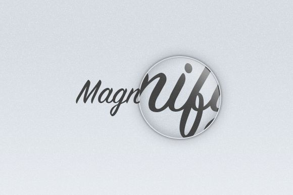 Auto magnifier ~~ Clean auto magnifier with a light reflect.  Info : Just update the smart object to start.