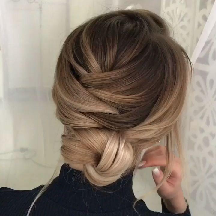Einfache Frisur für elegante Frauen. mit Video-Tutorial
