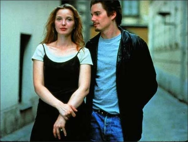 """Richard Linklater, the director of """"Slacker"""" and """"Dazed and Confused,"""" has an intoxicatingly romantic idea for his latest film. In """"Before Sunrise,"""" which he wrote with Kim Krizan, Mr. Linklater presents two attractive 20-something travelers who meet eagerly en route to Vienna and share a night of pure freedom there."""
