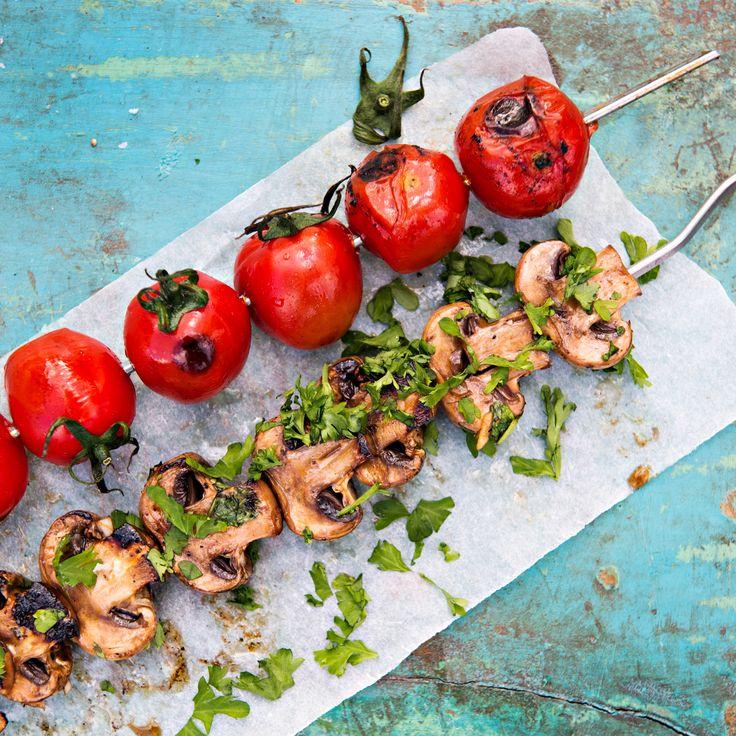Herkkusienivartaat | K-ruoka #grillaus #kasvisresepti